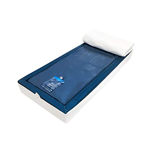 Aqua Sense Komplettset Wasserbett Leichtgewicht - Wasserbett Wasserkern Wassermatratze für Lattenrost universell - 100 x 200 cm - 120% Beruhigung