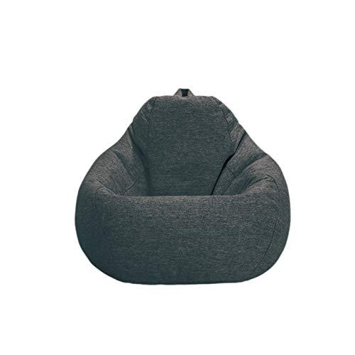 Bean Bags Adult Highback Bean Bag Großer Perfekter Lounge Oder Gaming Chair Haus Oder Garten 100 * 110CM Outdoor Sitzsäcke (Color : Gentleman Black, Pedal : No)