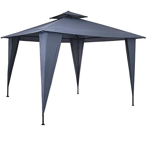 Pavillon Sairee 3,5x3,5m wasserdicht Dachhaube UV-Schutz 50+ Festzelt Partyzelt Gartenzelt Garten Anthrazit