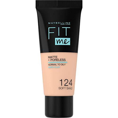 Maybelline New York Fit me! Matte & Poreless Make-up Nr. 124 Soft Sand, 30 ml