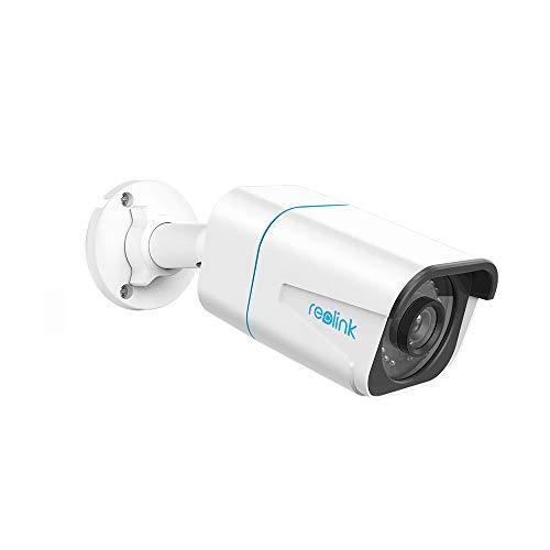 Reolink 4K Smart Überwachungskamera mit Personen-/Autoerkennung, IP66 wetterfest, Bullet PoE IP-Kamera outdoor mit Bewegungsalarmen, Audioaufzeichnung, Micro SD-Kartensteckplatz, Zeitraffer (RLC-810A)