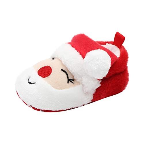 0-18 Meses,SO-buts Recién Nacido Bebé Niña Niños Zapatos Navidad Santa Claus Árbol...