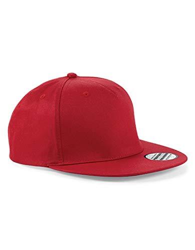 Beechfield Casquette de Rappeur Unisexe Taille Unique Rouge