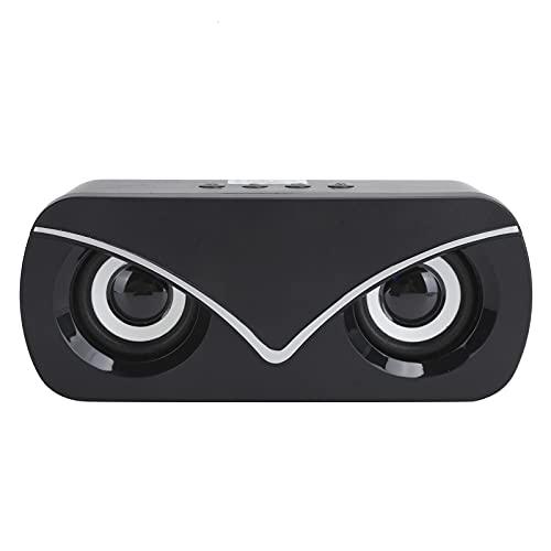 Altavoz Doble Bluetooth, Mini Altavoz de Audio portátil Sonido HiFi, Subwoofer de Sonido estéreo 3D, Soporte de Audio AUX, Tarjeta, Bluetooth y U Disk(Negro)