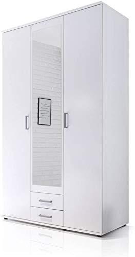 Minimalista moderno guardaroba camera da letto a casa in legno massello facile montaggio economico armadi bambini armadio 2 porte, una porta a specchio,White