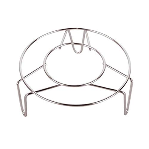 Yamyannie Rejilla de Vapor Vaporizador de Acero Inoxidable Cocina Utensilios de Cocina Steamer Hack Insertar Stock Cocina Soporte de Vapor para Cocinar (Color : Silver, Size : 13x2.5cm)