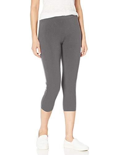 Hanes Women's Stretch Jersey Capri, Charcoal Heather, Large