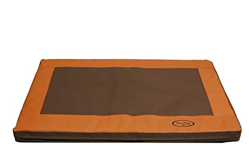 Amazing Deal Mud River Memory Foam Crate Cushion, Brown, Small