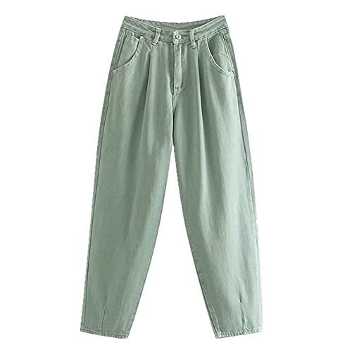 NP AACHOAE Mujer Streetwear Mamá Jeans Cintura Flojo Slouchy Jeans Boyfriend