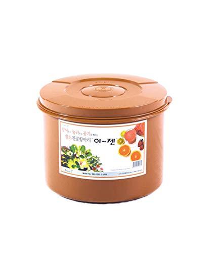 E-Jen Premium Kimchi, Sauerkraut Container Probiotic Fermentation with Inner Vacuum Lid Round (1.3 gal/ 5L)