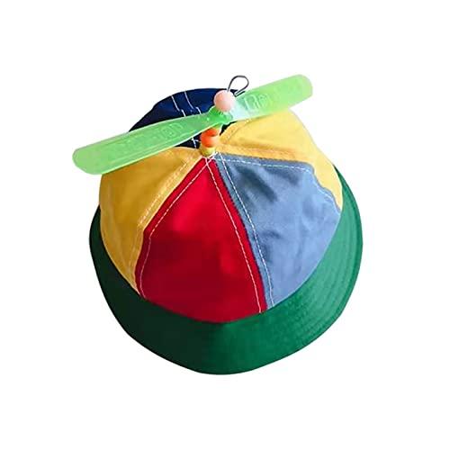 lliang Sombrero Baby Boys Girls Caps Children Propeller Top Sun Protección Viseras Cubo Hat Autumn Casual Cap Niños Reversible Sol Headwear (Color : Bucket Hat, Size : One Size)