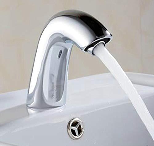 Wasserhahn Waschbecken Water Saving Basin Faucets Chrome Brass No Handle Tap Battery Power Sensor Faucet Touch Faucet Single Cold Sink Taps