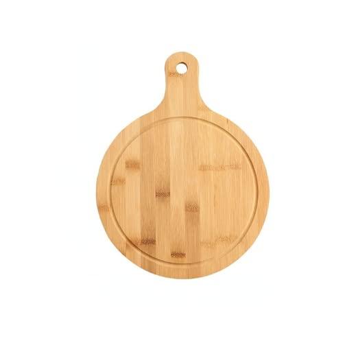 Nuovo tagliere in legno rotondo da cucina con manico in legno massello per alimenti Pizza Pane Frutta può appendere tagliere (3)