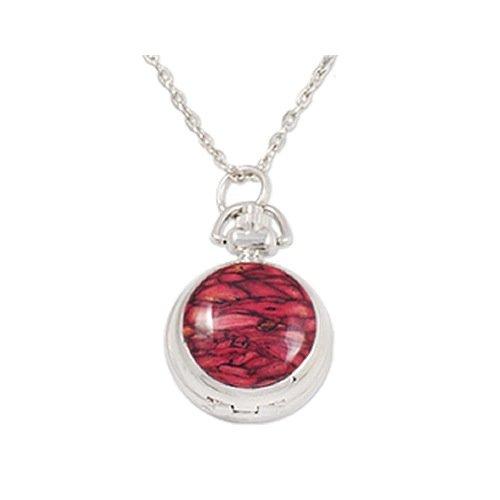 Heathergems Collar con colgante de cadena para mujer, color rojo