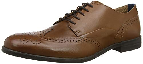 H by Hudson Aylesbury, Brogues Homme, Marron (Tan 24), 40.5 EU
