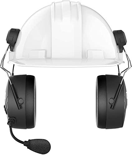 Tufftalk M, Earmuff with Long-Range Mesh Communication (Hard Hat), TUFFTALK-M-02