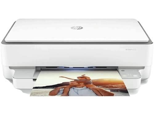 HP Envy 6032 5SE19B Stampante Fotografica Multifunzione A4, Stampa, Scansiona, Fotocopia, Wi-Fi Dual Band, HP Smart, Stampa Fronte/Retro Automatica, 5 Mesi Instant Ink Inclusi, Grigia