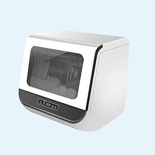 GFKD Kitchen Compact Portable Contretop Lave-Vaisselle 800W avec 6 étagères et Panier d'argenterie, Conception Turbo, économie d'énergie, économie d'eau, Anti-échelle