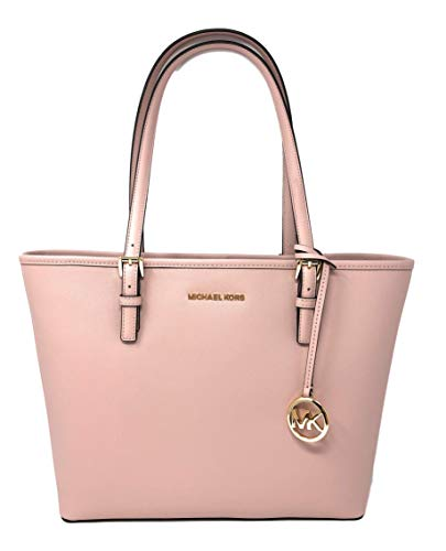 """Saffiano leather with gold tone hardware. Approximate measurement: 12.25""""-16"""" W x 10"""" H x 4.5"""" D Interior: 1 zippered pocket and 2 slip pockets. Exterior: Back slip pocket 9"""" double shoulder strap drop."""