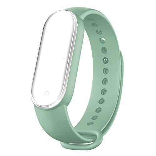 BANGTING Cinturino Compatibile con Xiaomi Mi Band 5, Orologio da Braccialetto di Ricambio per Smartwatch Mi Band 5 Bracciale Bracciali Cover Mi Fit 5 Cinturini Silicone Colorati, Menta Verde