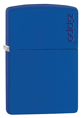 Zippo Zippo Feuerzeug 60001621 Brushed Chrome Emblem Attached Benzinfeuerzeug, Messing, royal Blue Matte, 1 x 3,5 x 5,5 cm Royal Blue Matte