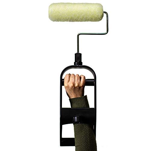 Comfort-Design Ergonomic Paint Roller Kit by E-ROLLER | Durable Frame fits 9' Paint Applicators (1)