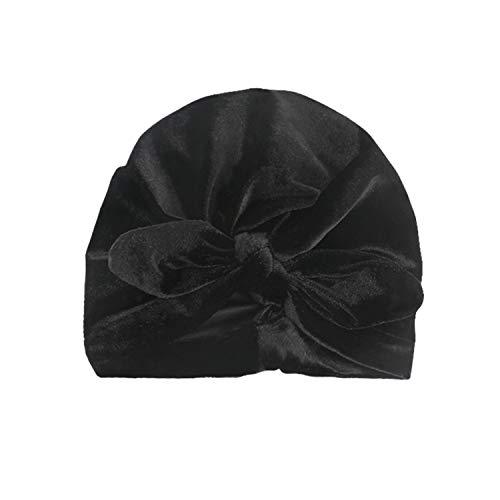 DRESHOW 5 Pcs Baby Turban Cloth Hat Baby Girl Soft Cute Toddler Cap Hat Knot Rabbit Hospital Hat (5 Pack Knot Velvet Ear / 1-6years)