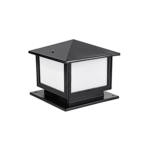 ZZYJYALG LED Solar and Electric Column Headlights, Aluminum Lamp Body, Light-emitting Diode Modern Simple Outdoor Door Wall Lamp 12, 16, 20 Inches Black