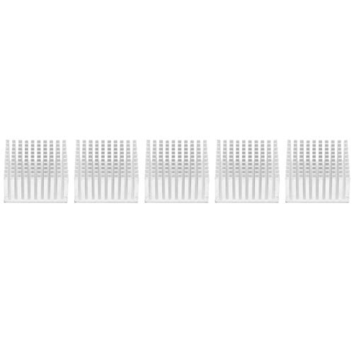Ladieshow 5PCS Kühlkörper Kühlrippe Kühler Kühlrippe für Lüfterplatine 40 x 20 x 40 mm Aluminium(Silber)