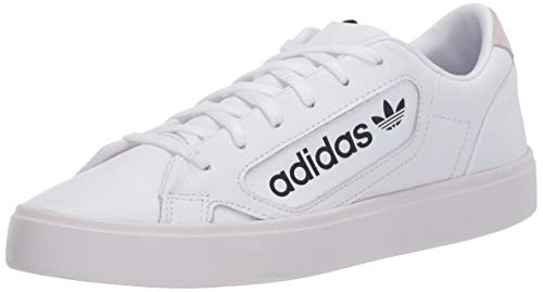 adidas Originals Women's Sleek Sneaker, FTWR White/Crystal White/core Black, 9.5 M US