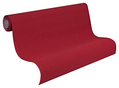 A.S. Création Vliestapete Avenzio Tapete Unitapete 10,05 m x 0,53 m rot Made in Germany 249463 2494-63