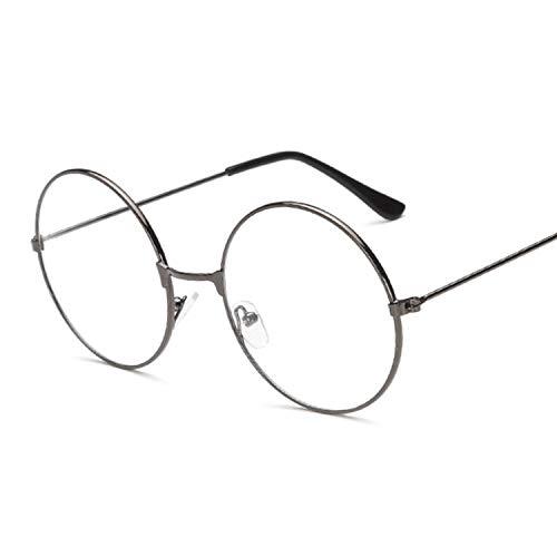 Moda Vintage Retro Metal Frame Clear Lens Gafas Nerd Geek Gafas Gafas Negro De Gran Tamaño Redondo Círculo Gafas, pistolas,