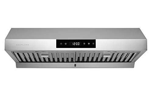 Hauslane | Chef Series 30' PS18 Under Cabinet Range Hood, Stainless Steel | Pro Performance | Contemporary Design, Touch Screen, Dishwasher Safe Baffle Filters, LED Lamps, 3-Way Venting