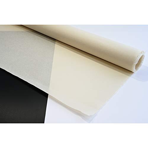 Handgefertigtes Maulbeer-Hanji-Papier, pH-neutral, säurefrei, Premium-Qualität, Rohmaterial für koreanische Volksmalerei, Min-HWA, ungebleicht, Hellbraun, 72 cm x 1,4 m, 1-lagig, 30 g/m², 3 Blatt