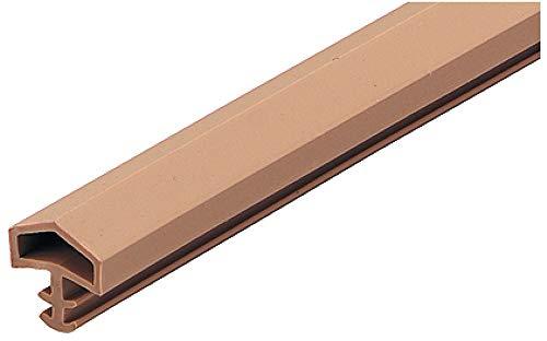 Gedotec Türanschlagdichtung Tür-Dichtung Zimmertür M 680 für Holzzargen | Türzargen-Dichtung beige | Falzbreite: 12 mm | Kunststoff weich PVC | 25 Meter - Zargendichtung für Innentüren aus Holz