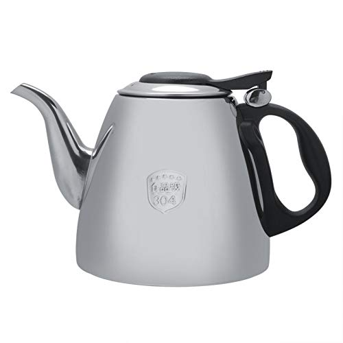Tetera cafetera de acero inoxidable, capacidad grande, calefacción rápida, estufa, tetera con mango resistente al calor para la oficina,casa (1.2L)