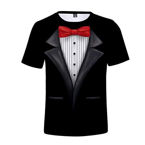 Xmiral t Shirt Maglietta Maglia Magliette Maglie T-Shirt Uomo 3D Tuta Colorata Maniche Corte Traspiranti ad Asciugatura Rapida (XXL,2Nero)