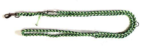 Viva Nature Handgeflochtene Paracord Hundeleine/verstellbare Führleine/Flechtleine/Funktionsleine Doppelleine ca.2m 3 Ringe/Hunde/Leine / (Sari PPM)