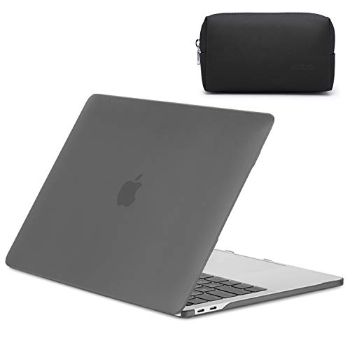 HYZUO 13 Inch Laptop Case Compatible with 2020 Released Macbook Pro 13 A2289 A2251 Ultra Slim Plastic Smooth Matte Protective Hard Shell Case Cover for MacBook Pro 13 with Small Carry Bag, Frost Black