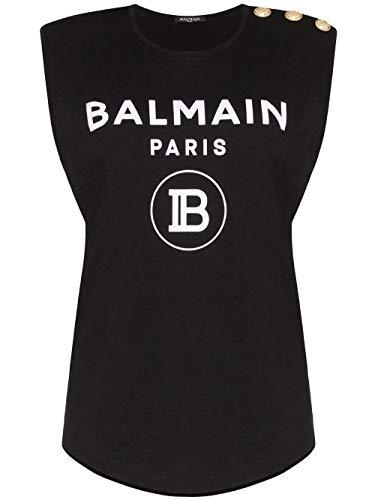 Luxury Fashion   Balmain Dames SF11365I193EAB Zwart Katoen Tops   Herfst-winter 19