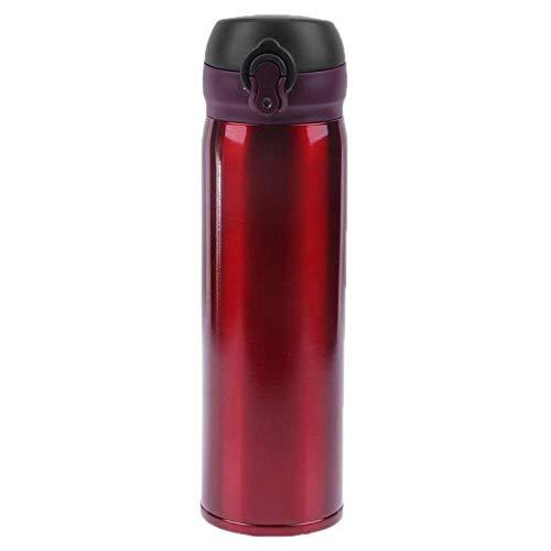 450ml gesp thermische beker 304 roestvrij staal dubbelwandige geïsoleerde beker mok reizen koffie drinkfles thermos beker water beker-rode roos