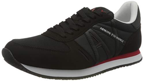 Armani Exchange Rio Sneakers, Zapatillas Hombre, Negro, 44 EU