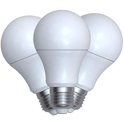 Denver SHL-340 (3 Stück) Intelligente WiFi-LED-Glühbirne. Kompatibel mit Alexa, Google Home und Tuya. Typ: E27 weißes Licht