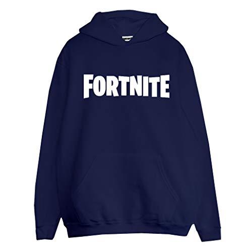 Popgear Fortnite Logotipo del Texto Hombres Sudadera con Capucha suéter Armada L | Interruptor X-Box PS4 PS5 para Hombre Camisa con Capucha, Idea Gamer Regalo de cumpleaños para los individuos