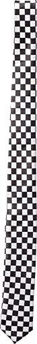 Orlob Fasching Krawatte schwarz/weiß kariert
