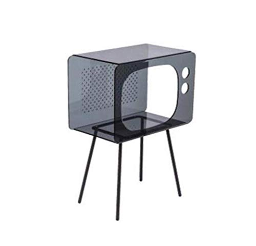 QHY Regal, Bücherregal Bücherregal Acrylplatte Moderne Industrielle Display Regal Aufbewahrungsbox Balkon Wohnzimmer Nachttisch, 3 Farben,Grau,A