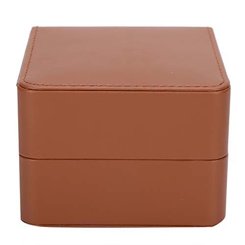 Hoseten Caja de Almacenamiento de Reloj, Caja de Reloj de Cuero PU Suave con Almohada, Caja de Reloj de Cuero PU Suave y amigable, para Pulseras, Collares(Brown)