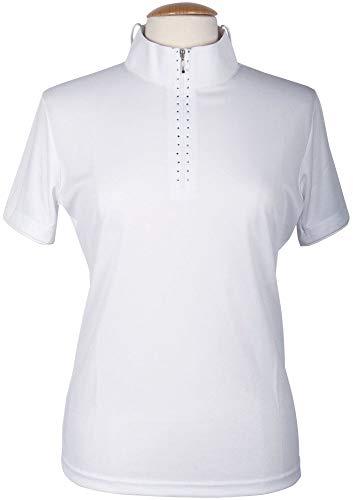 Harry's Horse 26100560 - Maglietta da torneo da Donna, Taglia XL, Colore: Bianco
