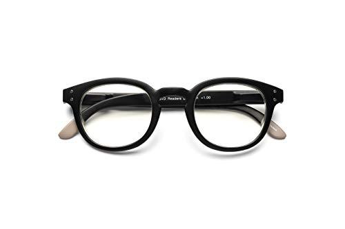B+D Blue Ban Reader Matt Black +1.00 Eyeglasses 2280-99-10
