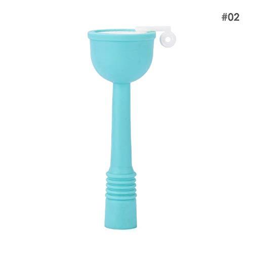 HaiQianXin Waterbesparende Keuken Kraan Water Filter Douche Water Roterende Spray Tap Water Filter Klep Keuken Badkamer Accessoires (Kleur: Blauw, Maat : S-13.5 * 4.7cm)